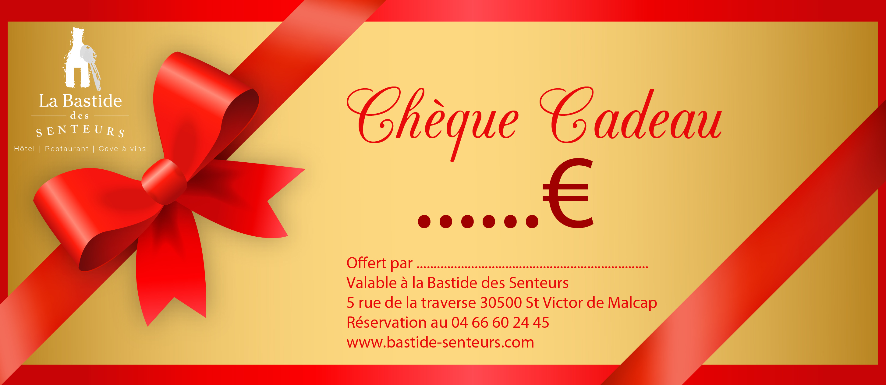 Carte Cadeau Restaurant.Carte Cadeau La Bastide Des Senteurs